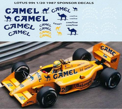 1/20 CAMEL  FOR TAMIYA LOTUS 99T A. SENNA TBD9