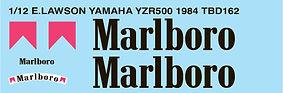 1/12 MARLBORO EDDIE LAWSON YAMAHA YZR500 1984 DECALS TB DECAL TBD162