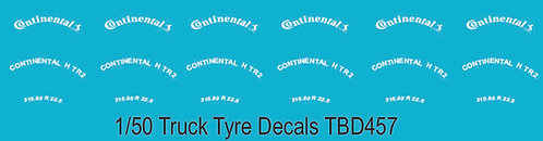 1/50 Continental Tire Decals for Trucks  Tyre Pneumatici  Lorry Camion TBD457