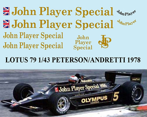 1/43 LOTUS FORD 79 1978 PETERSON ANDRETTI TBD55