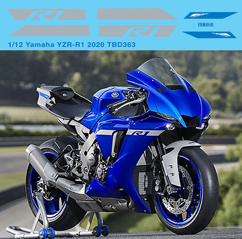 1/12 Yamaha YZR-R1  2020 Livery  Decals TB Decal TBD363