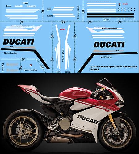 1/12 Ducati Panigale 1299 S Anniversario Decals Decal TBD282