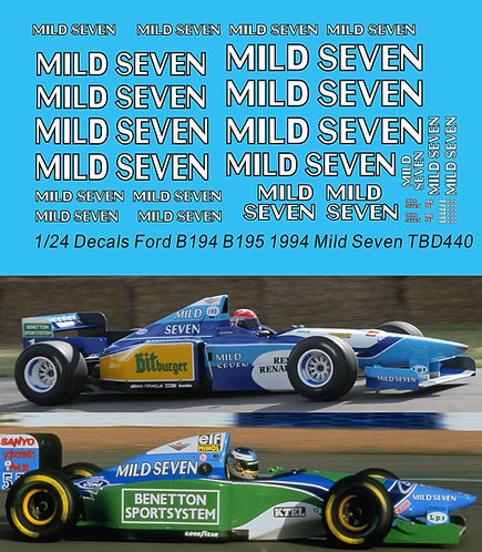 1/24 Decals Benetton Ford B194 B195 1994 Mild Seven Michael  Schumacher Decal TB