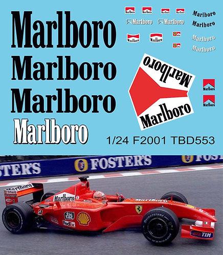 1/24 Decals F1 Ferrari F2001 Michael  Schumacher Decal TBD553