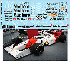 1/20 MARLBORO McLaren MP4/7 AYRTON SENNA TAMIYA  DECALS TB DECAL TBD179