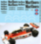 1/20 MARLBORO MCLAREN M23 1976 FOR TAMIYA SPONSOR DECALS TB DECAL TBD89