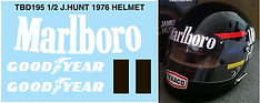 1/2 MARLBORO JAMES HUNT HELMET 1976 SPONSOR FOR BELL  MINI DECALS TB DECAL  TBD195