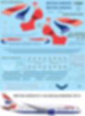 1/144 BRITISH AIRWAYS BOEING 787  787-8 DECALS TBDECAL TBD82