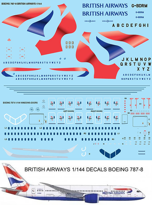 1/144 BRITISH AIRWAYS BOEING 787  787-8 TBD82
