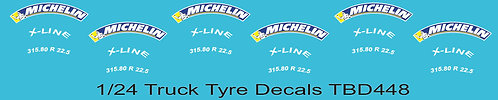 1/24 Michelin Colored Tire Decals for Trucks  ( Tyre Pneumatici  Lorry) TBD448