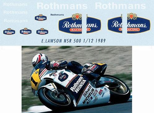 1/12 HONDA EDDIE LAWSON 1989 NSR500 ROTHMANS TBD21