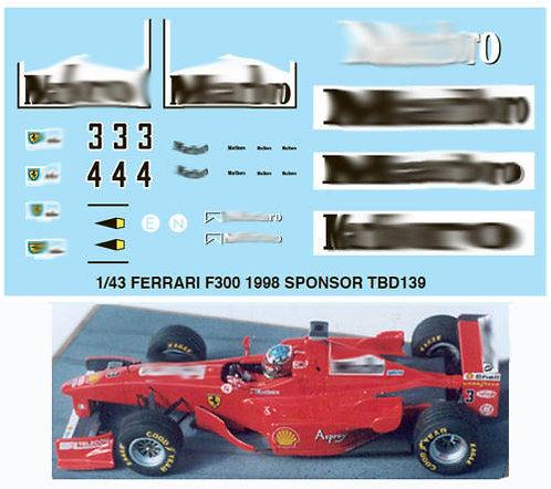 1/43  FERRARI F300 1998 SPONSOR SCHUMACHER TBD139