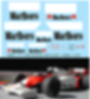 1/43 MARLBORO MCLAREN  MP4/2C 1986 SPONSOR  DECALS TB DECAL TBD171
