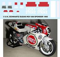 1/12 LUCKY STRIKE KEVIN SCHWANTZ SUZUKI RGV 500 1993 DECALS TB DECAL TBD45