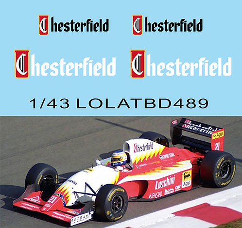 1/43 Decals for LOLA T93/30 1993 Luca  Badoer TB Decal TBD489