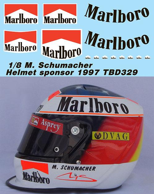 1/8 MICHAEL SCHUMACHER MISSING HELMET DECALS F1  1997  TB DECAL TBD329