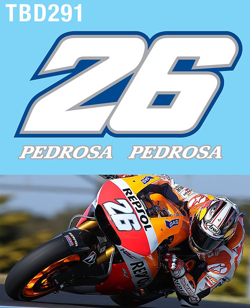 1/12 Daniel Pedrosa Supplementary Decals for Tamiya kit Honda RC213V  14 TBD291