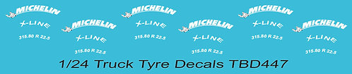 1/24 Michelin Tire Decals for Trucks  ( Tyre Pneumatici  Lorry Camion)TBD447