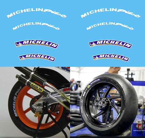 1/12 Michelin Tyre logo set Decals for MotoGP Yamaha Ducati Honda Decal TBD387