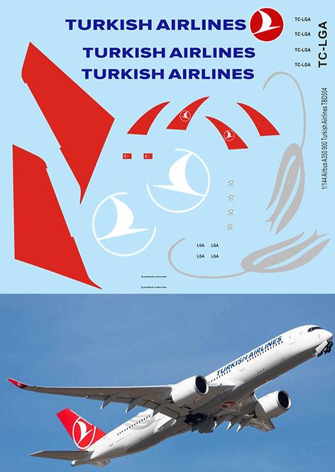 1/144 Turkish  Airlines Livery Decals for Airbus A350 900  TB Decal TBD504