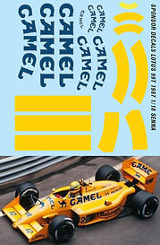 1/18 CAMEL LOTUS 99T 1/18 1987 SENNA SPONSOR DECALS TB DECAL TBD49