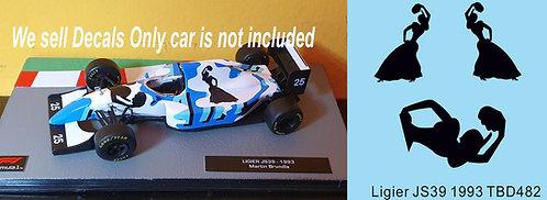 1/43 Sponsor Decals for Ligier JS39 1993 Martin Brundle TB Decal TBD482