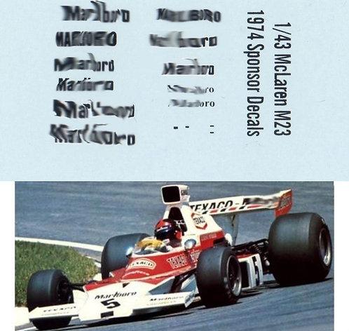 1/43 MCLAREN M23 1974 SPONSOR E FITTIPALDI TBD93