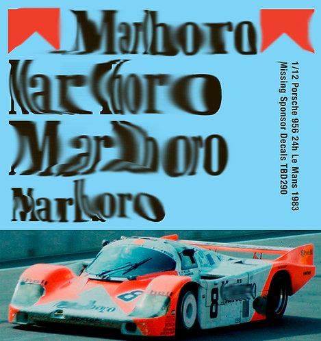 1/12 Porsche 956 24h Le Mans 1983 Missing  Sponsor Decals Decal TBD290
