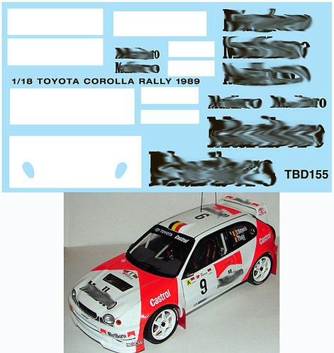 1/18 TOYOTA COROLLA RALLY 1989 FOR AUTOART TBD155