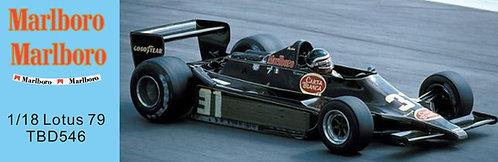 1/18 Sponsor Decals Lotus Ford 79 H. Rebaque 1979 Decal TBD546