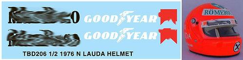 1/2 NIKI LAUDA 1976 HELMET BELL MINI TBD206