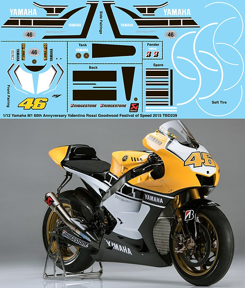 1/12 Valentino Rossi Yamaha M1 Goodwood Festival