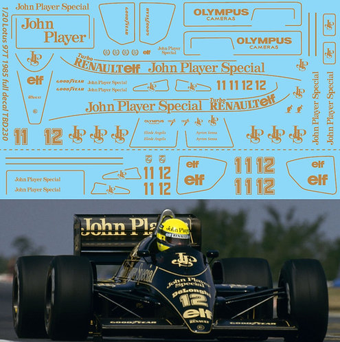 1/20  LOTUS 97T 1985 FULL  SET AYRTON SENNA TBD230