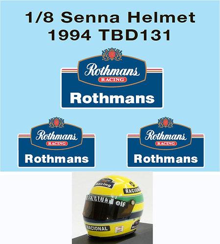 1/8 ROTHMANS  AYRTON SENNA HELMET F1 1994 TBD131