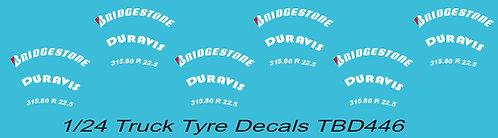 1/24 Bridgestone (Red B) Tire Decals for TrucksTBD445