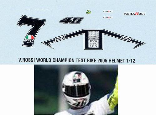 1/12 VALENTINO ROSSI 'S TEST HELMET 2005 TBD24