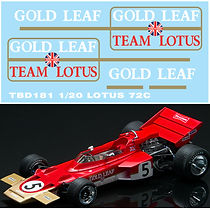 1/20 LOTUS 72C 1970 SPONSOR DECAL  DECALS TB DECAL TBD181