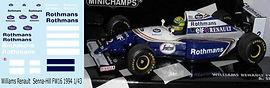 1/43 ROTHMANS WILLIAMS RENAULT SENNA HILL FW16 1994  DECALS TB DECAL TBD59