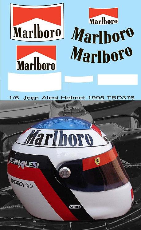 1/5 Helmet jean Alesi 1995 Sponsor Decals TB Decal TBD376