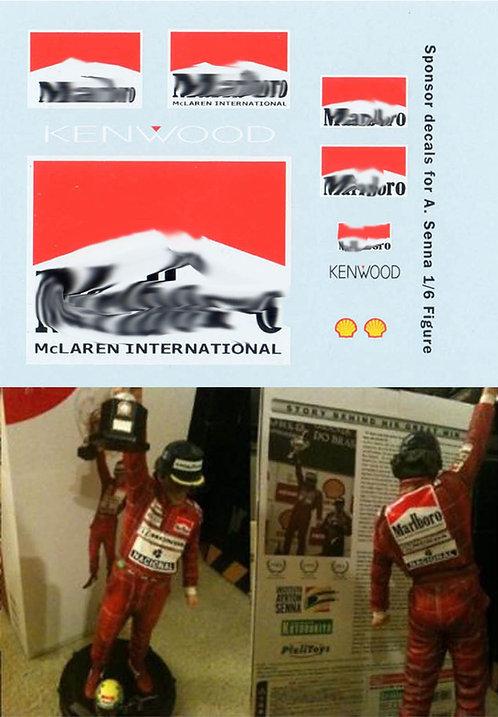 1/6 DECAL  Ayrton Senna Brazil 1991 SPONSOR  TBD97