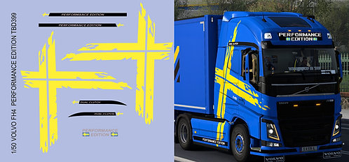 1/50 Volvo FH4 Performance Edition  Yellow Strips Decals TB Decal TBD399