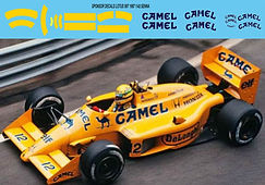 1/43 CAMEL  LOTUS 99T  1987  SENNA SPONSOR DECALS TB DECAL TBD62
