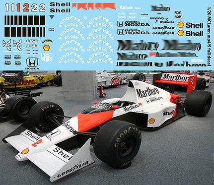 1/20 McLaren MP4/5  FUJIMI A SENNA PROST TBD69