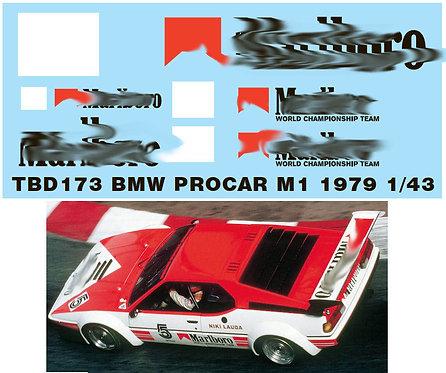 1/43 BMW PROCAR M1 1979 NIKI LAUDA SPONSOR DECALS TB DECAL TBD173