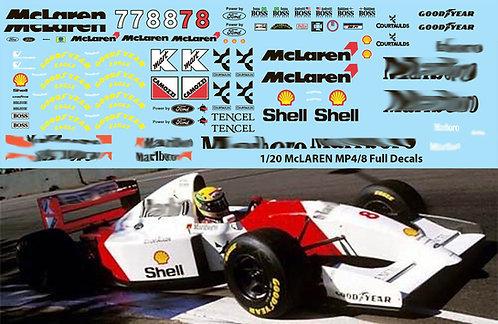 1/20  McLaren MP4/8  TAMIYA SENNA ANDRETTI TBD68