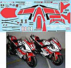 1/12 YAMAHA M1 2011 50TH LORENZO SPIES TAMIYA DECALS TB DECAL TBD98