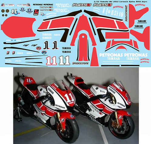 1/12 YAMAHA M1 2011 50TH LORENZO SPIES TBD98