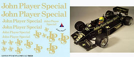 1/12 JOHN PLAYER SPECIAL LOTUS 97T AYRTON SENNA SPONSOR JPS JOHN PLAYER 1985 DECALS TB DECAL TBD29