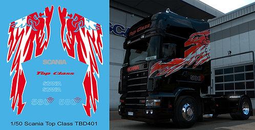 1/50 Scania Top Class 580 V8 Decals TBD 401