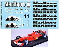 1/20 MARLBORO FERRARI F1-2000 F2000 DECALS TB DECAL TBD152